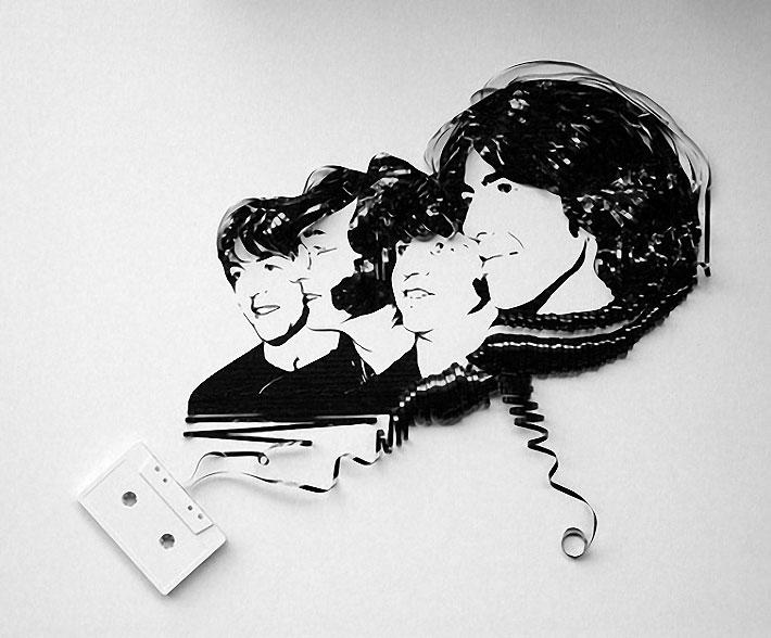 Trop Bon Trop Com - #TBTC Art : des portraits avec des cassettes 1