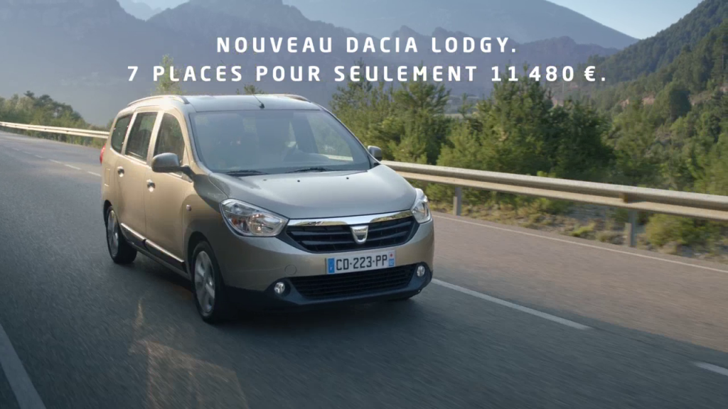dacia lodgy tbtc trop bon trop com 39 tapage publicitaire et musical. Black Bedroom Furniture Sets. Home Design Ideas