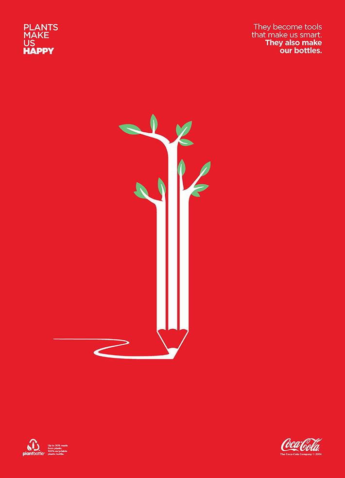 Coca cola plants make us happy tbtc trop bon trop Flowers that make you happy