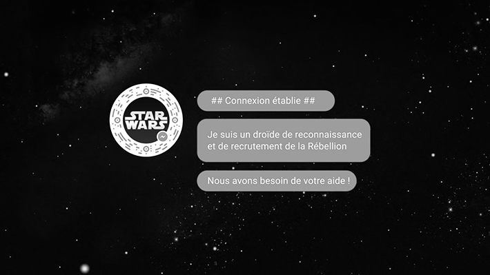The Walt Disney Company France : Rogue One -A Star Wars Story- Rejoignez la Rébellion sur Facebook Messenger !