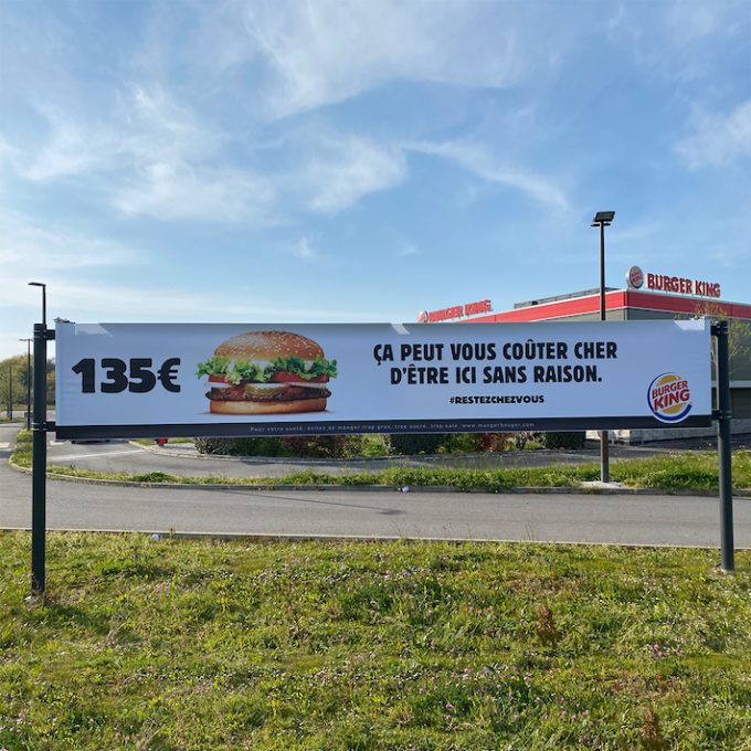 Burger King affiche parking TBTC